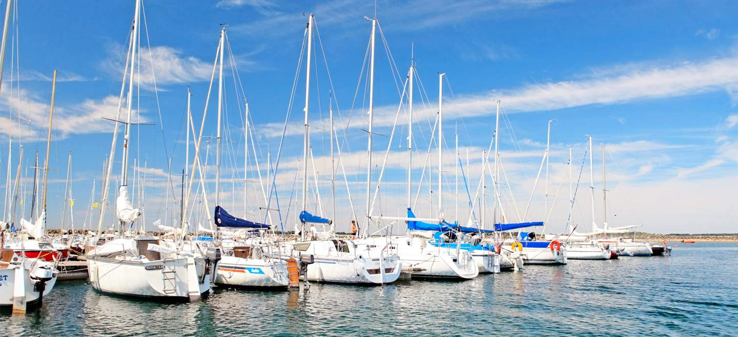 Marina of the Lac d'Orient and water sports