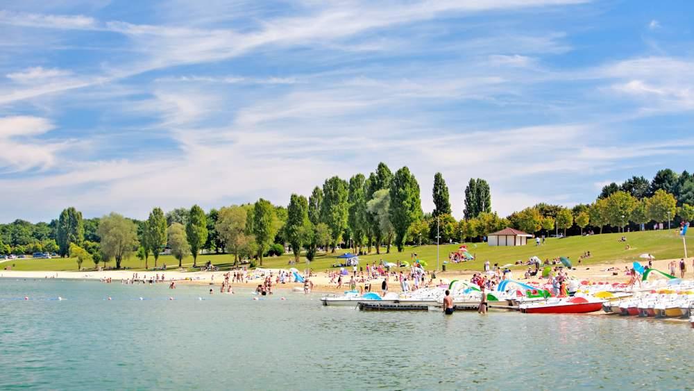 paddle et activités au le lac d'orient