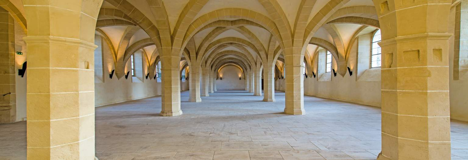 Refectory of the Clairvaux Abbey  © Sylvain Bordier